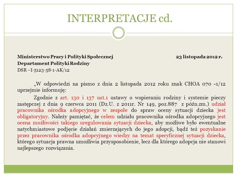 L.pImię i nazwisko dziecka Data urodzenia dziecka Sytuacja prawna rodziców dziecka Miejsce pobytu dziecka (forma rodzinnej pieczy zastępczej) KonsultacjaUwagi