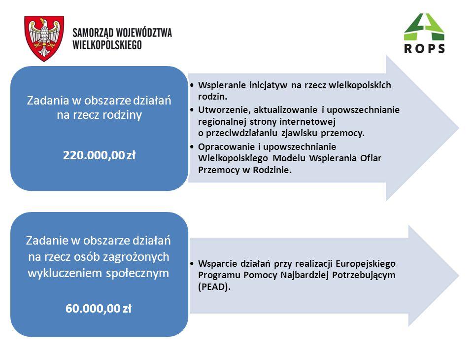 Wspieranie inicjatyw na rzecz wielkopolskich rodzin. Utworzenie, aktualizowanie i upowszechnianie regionalnej strony internetowej o przeciwdziałaniu z