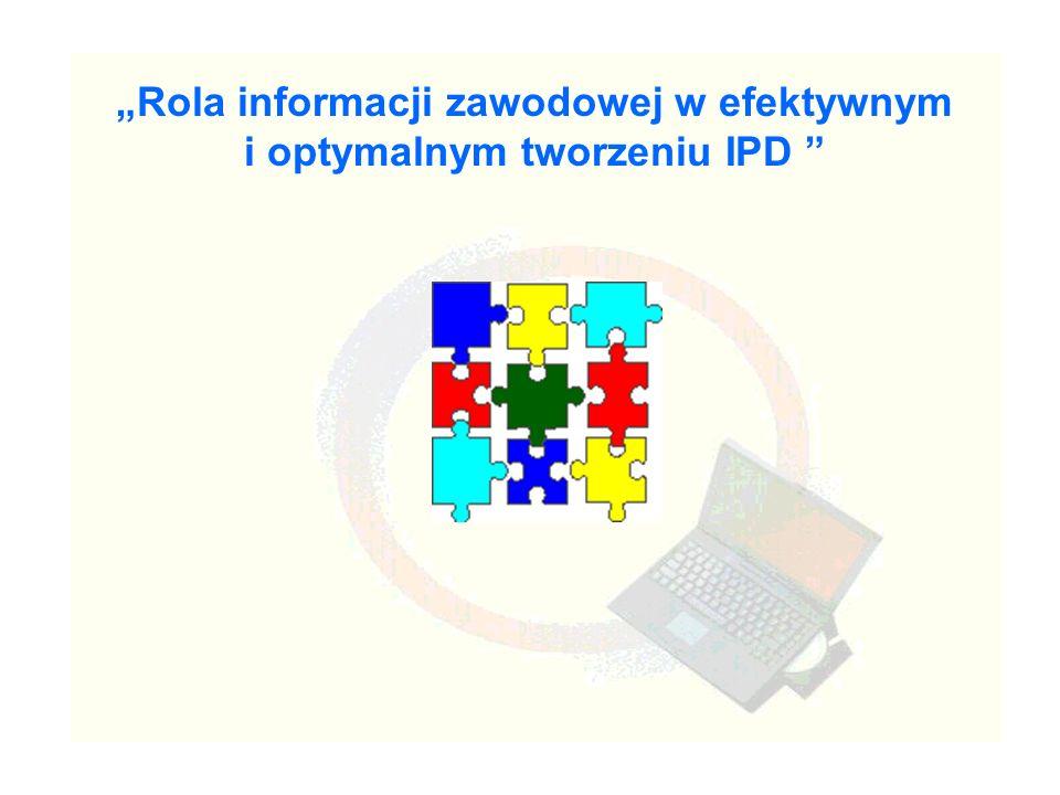 Rola informacji zawodowej w efektywnym i optymalnym tworzeniu IPD