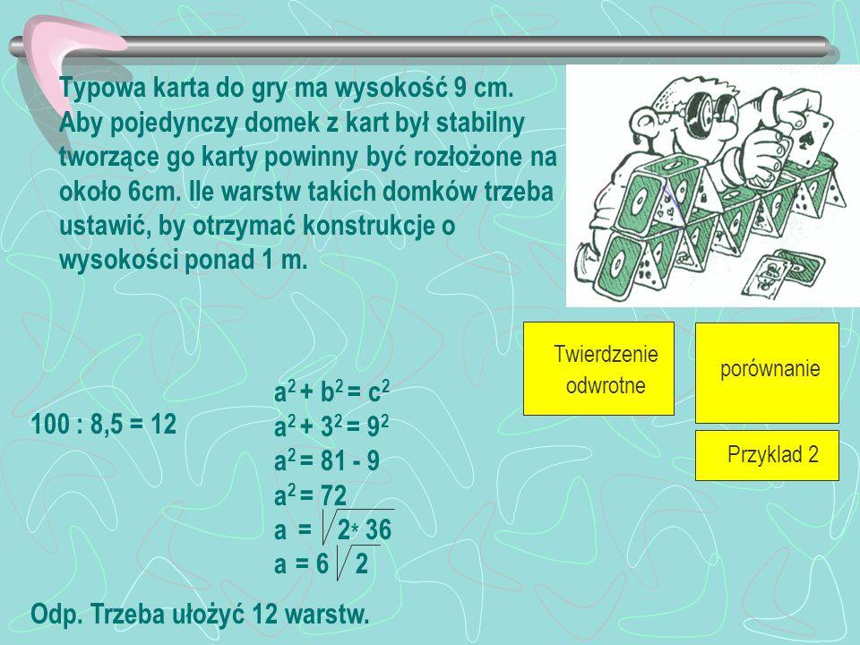 Przykład 2 Przykład 1 Twierdzenie odwrotne