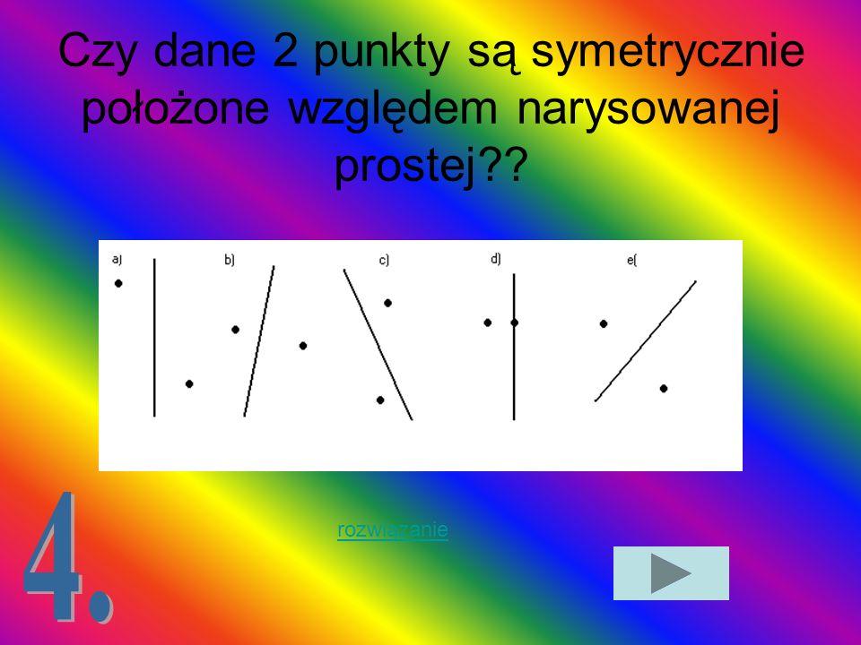 Która z poniższych figur ma dokładnie dwie osie symetrii?? rozwiązanie