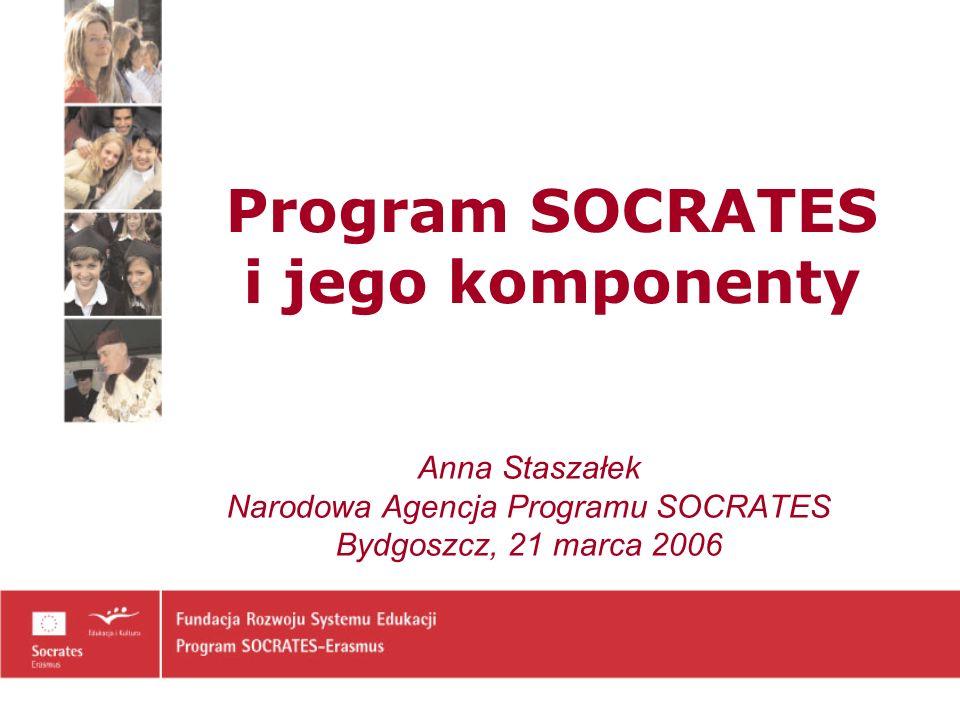 Program Socrates Jest programem edukacyjnym powołanym przez Wspólnotę Europejską – wspierającym współpracę szkół, uczelni oraz innych ośrodków związanych z edukacją – w celu poprawy jakości kształcenia i nadania edukacji wymiaru europejskiego.