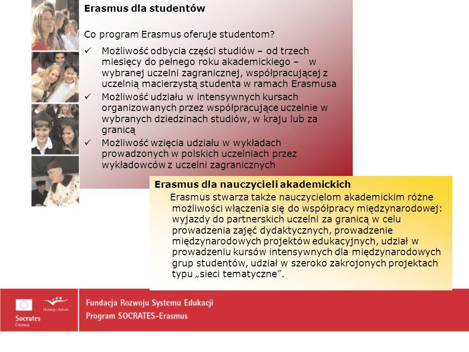 Erasmus dla studentów Co program Erasmus oferuje studentom.