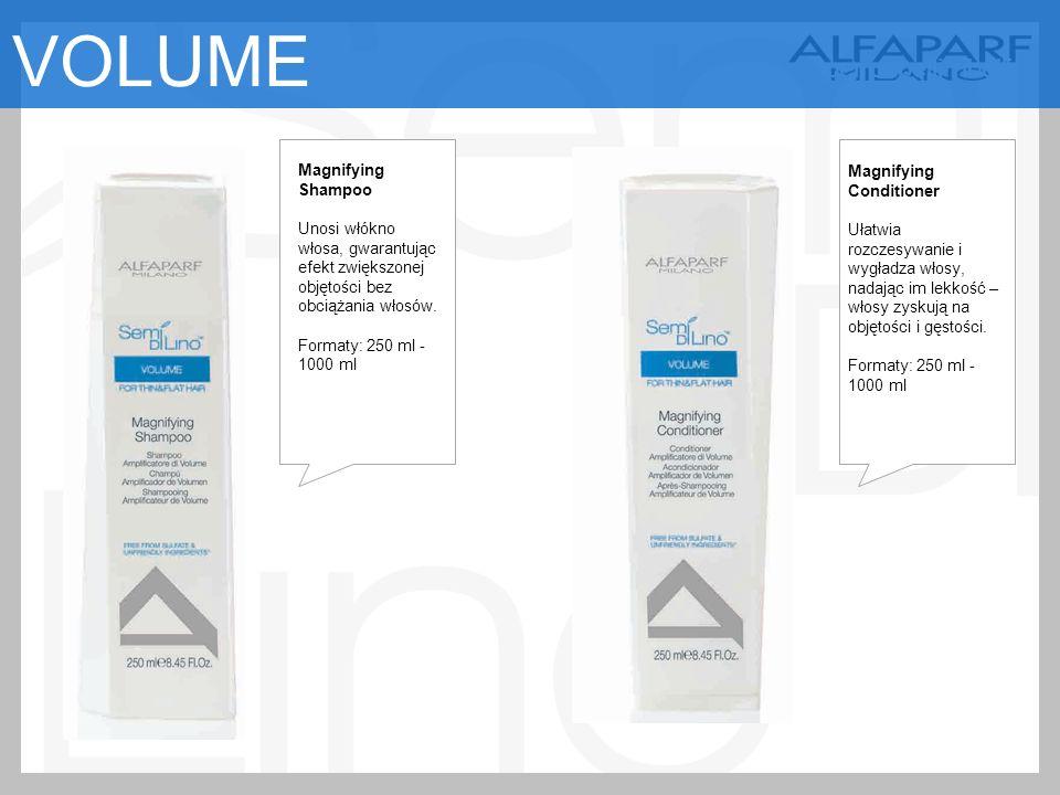 Magnifying Shampoo Unosi włókno włosa, gwarantując efekt zwiększonej objętości bez obciążania włosów.