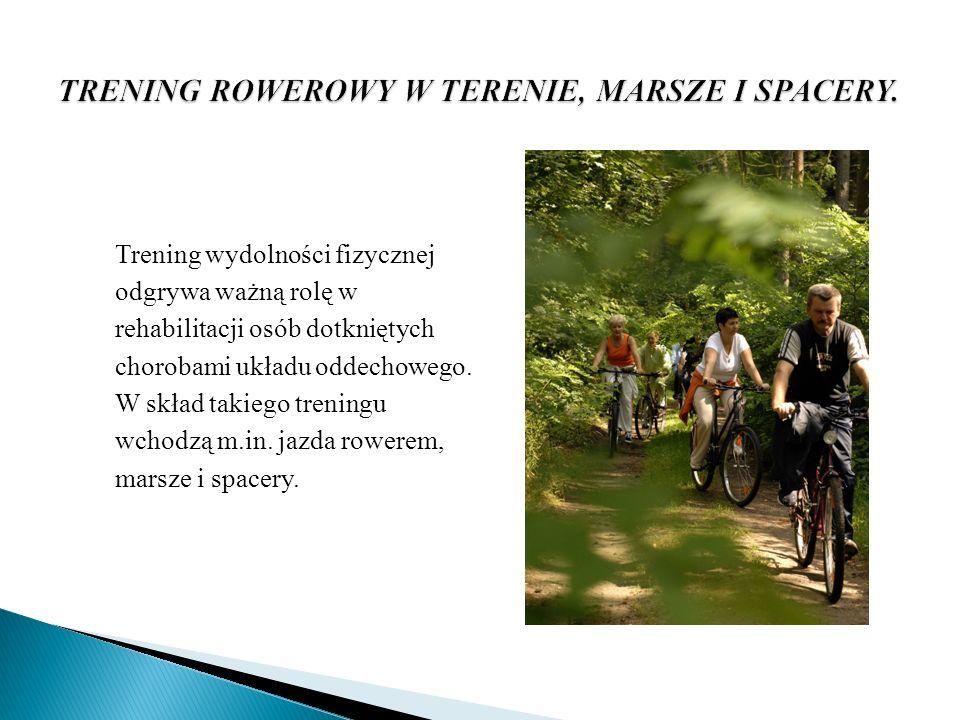 Trening wydolności fizycznej odgrywa ważną rolę w rehabilitacji osób dotkniętych chorobami układu oddechowego. W skład takiego treningu wchodzą m.in.