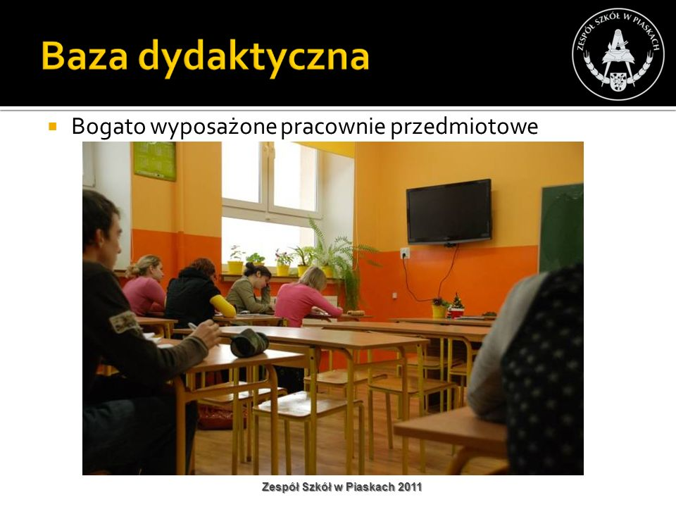 Bogato wyposażone pracownie przedmiotowe Zespół Szkół w Piaskach 2011
