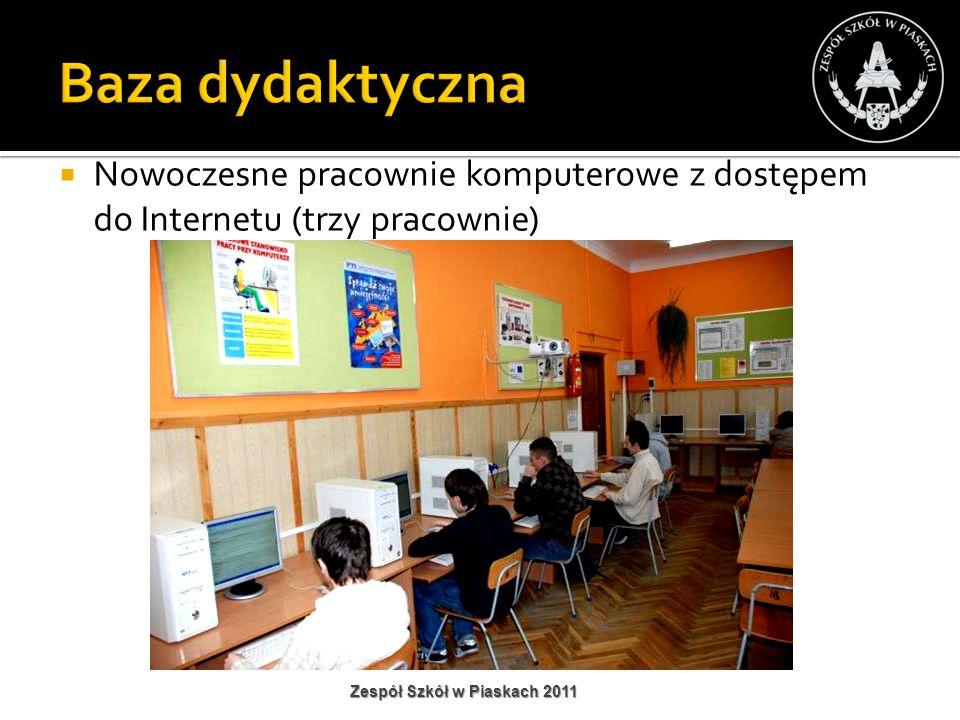 Nowoczesne pracownie komputerowe z dostępem do Internetu (trzy pracownie) Zespół Szkół w Piaskach 2011