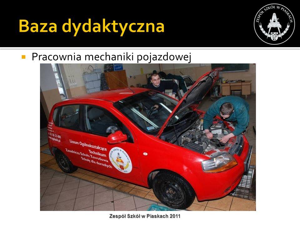 Pracownia mechaniki pojazdowej Zespół Szkół w Piaskach 2011