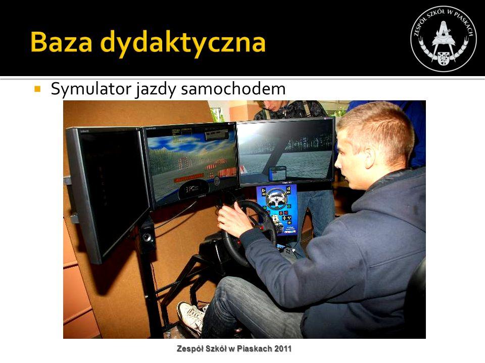 Symulator jazdy samochodem Zespół Szkół w Piaskach 2011