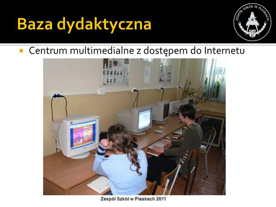 Centrum multimedialne z dostępem do Internetu Zespół Szkół w Piaskach 2011