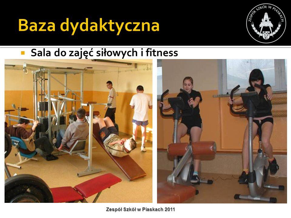 Sala do zajęć siłowych i fitness Zespół Szkół w Piaskach 2011