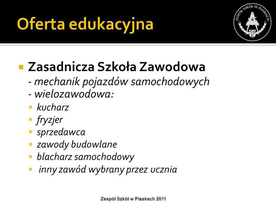 Tablica interaktywna Zespół Szkół w Piaskach 2011
