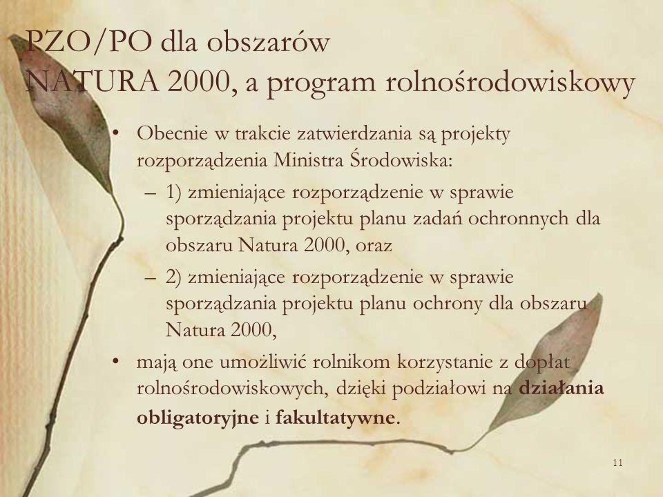 11 Obecnie w trakcie zatwierdzania są projekty rozporządzenia Ministra Środowiska: –1) zmieniające rozporządzenie w sprawie sporządzania projektu plan