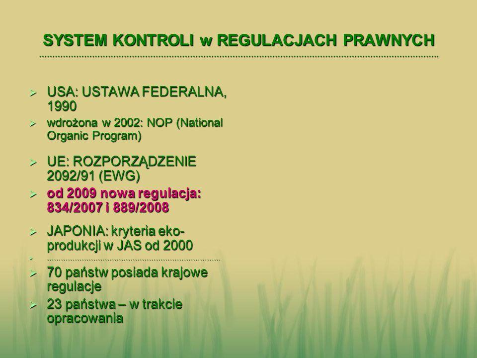 UE: nowa regulacja prawna od 1.01.2009 Rozporządzenie Rady (WE) nr 834/2007 Rozporządzenie Rady (WE) nr 834/2007 w sprawie produkcji ekologicznej i znakowania produktów ekologicznych i uchylające rozporządzenie (EWG) nr 2092/91 w sprawie produkcji ekologicznej i znakowania produktów ekologicznych i uchylające rozporządzenie (EWG) nr 2092/91 (podstawowe) (podstawowe) Rozporządzenie Komisji (WE) nr 889/2008 Rozporządzenie Komisji (WE) nr 889/2008 ustanawiające szczegółowe zasady wdrażania rozporządzenia Rady (WE) nr 834/2007 w odniesieniu do produkcji ekologicznej, znakowania i kontroli ustanawiające szczegółowe zasady wdrażania rozporządzenia Rady (WE) nr 834/2007 w odniesieniu do produkcji ekologicznej, znakowania i kontroli (wykonawcze; wymogi techniczne) (wykonawcze; wymogi techniczne) www.minrol.gov.pl www.minrol.gov.pl www.minrol.gov.pl Zakładka Rolnictwo ekologiczne Zakładka Rolnictwo ekologiczne