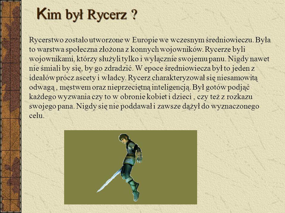 Średniowieczni Rycerze Ideał średniowiecznego wojownika Paweł Jakimiec kl.1Li