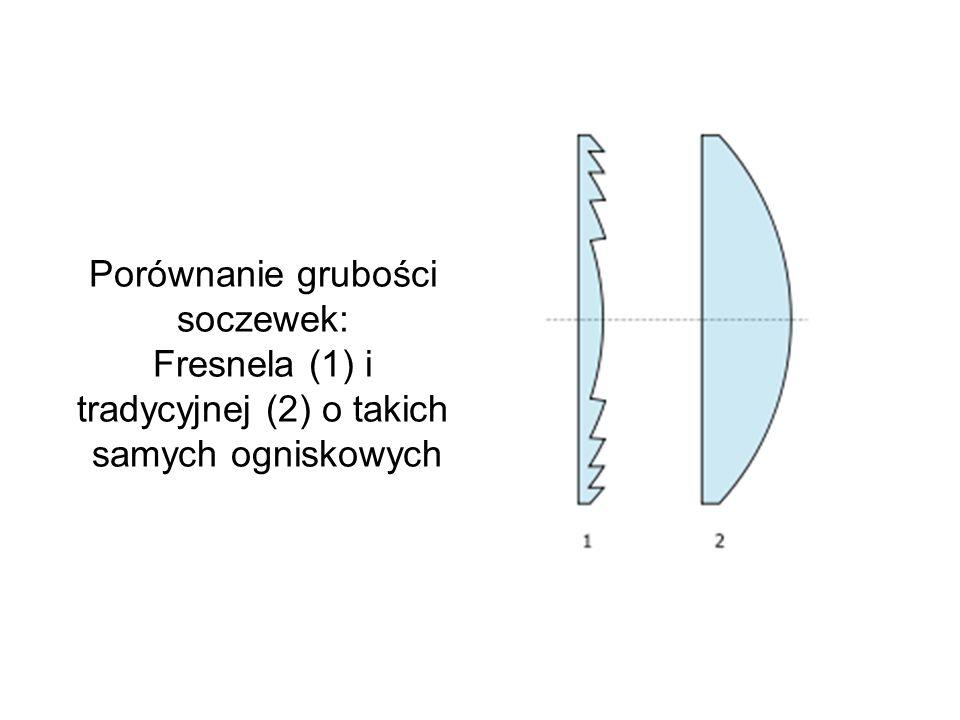 Soczewka Fresnela (soczewka schodkowa, soczewka pierścieniowa) - skonstruowana w 1822 roku przez Augustina-Jeana Fresnela soczewka składająca się z ko