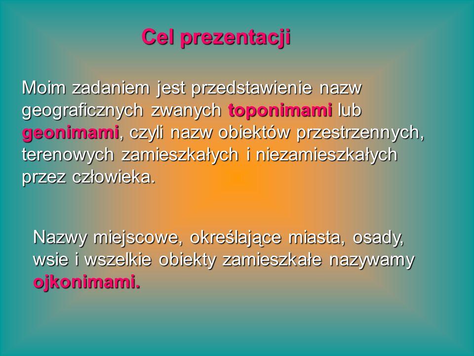 Nazwy własne Nazwy własne Onomastyka Wyrazy dzielimy na: Wyrazy pospolite powstawanie nazw własnych z wyrazów pospolitych z innych nazw własnych w sposób mieszany z obu elementów