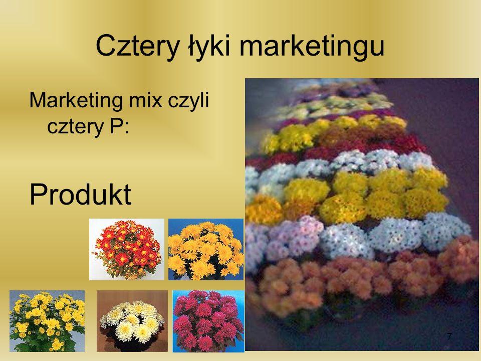 Cztery łyki marketingu Marketing mix czyli cztery P: Produkt 7