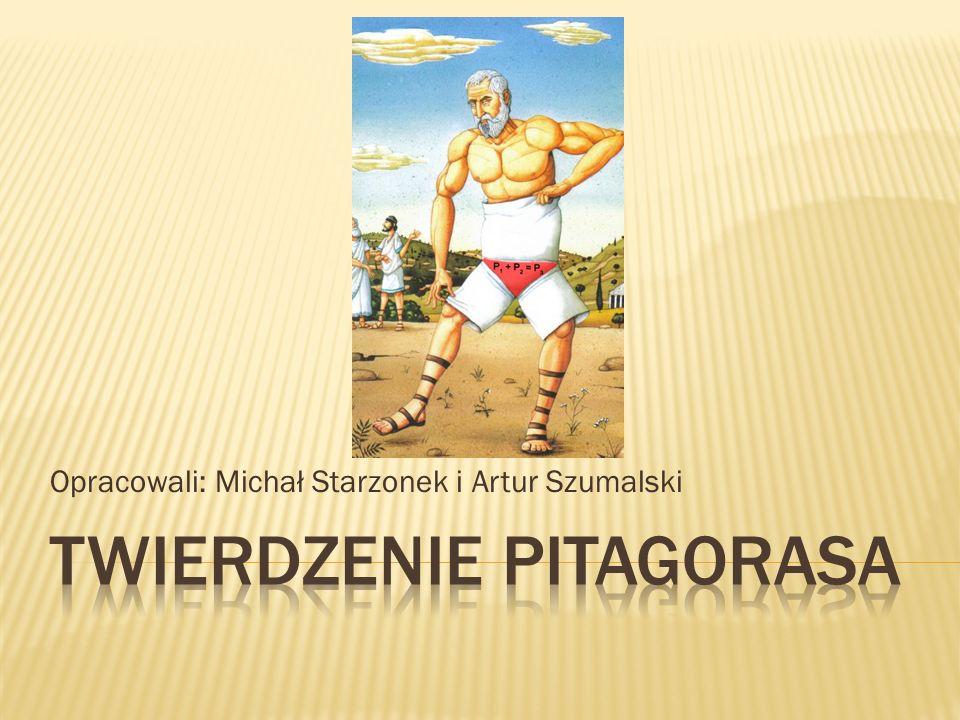 Żył w latach około 570-497 przed naszą erą Grecki filozof-mistyk i matematyk Uznawał liczbę za prazasadę bytu Założył szkołę pitagorejską Odkrył odcinki niewspółmierne Sformułował twierdzenie dziś nazywane twierdzeniem Pitagorasa