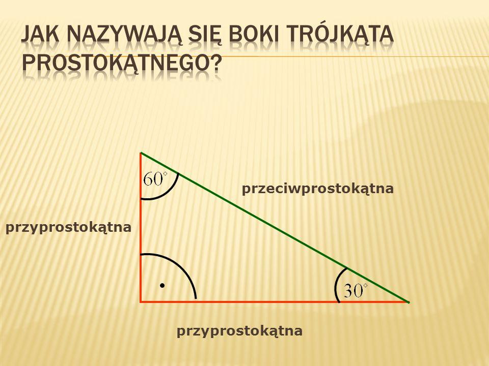 W trójkącie prostokątnym kwadrat długości przeciwprostokątnej jest równy sumie kwadratów długości jego przyprostokątnych.