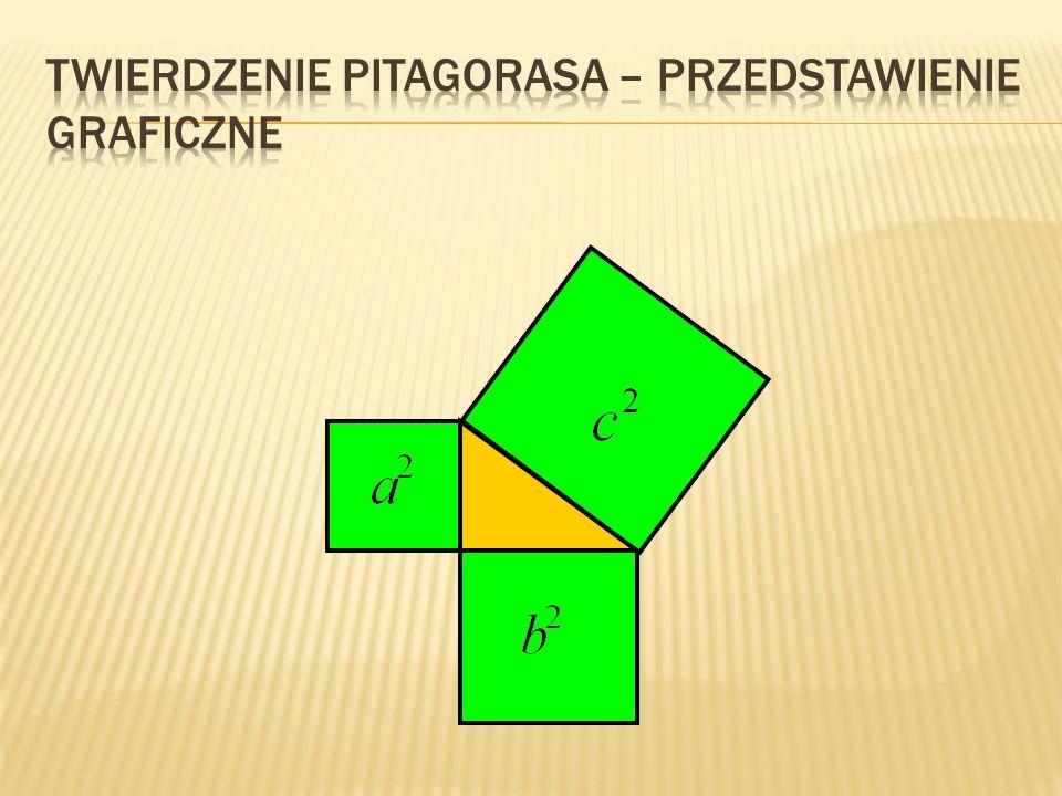 Jeżeli w trójkącie kwadratu długość jednego boku jest równy sumie kwadratów długości boków pozostałych, to ten trójkąt jest prostokątny.