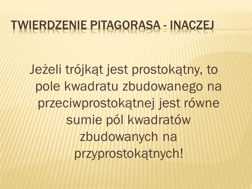 Rozwiążemy wspólnie jedno zadanie, które sprawdzi waszą wiedzę na temat w/w twierdzenia Pitagorasa.