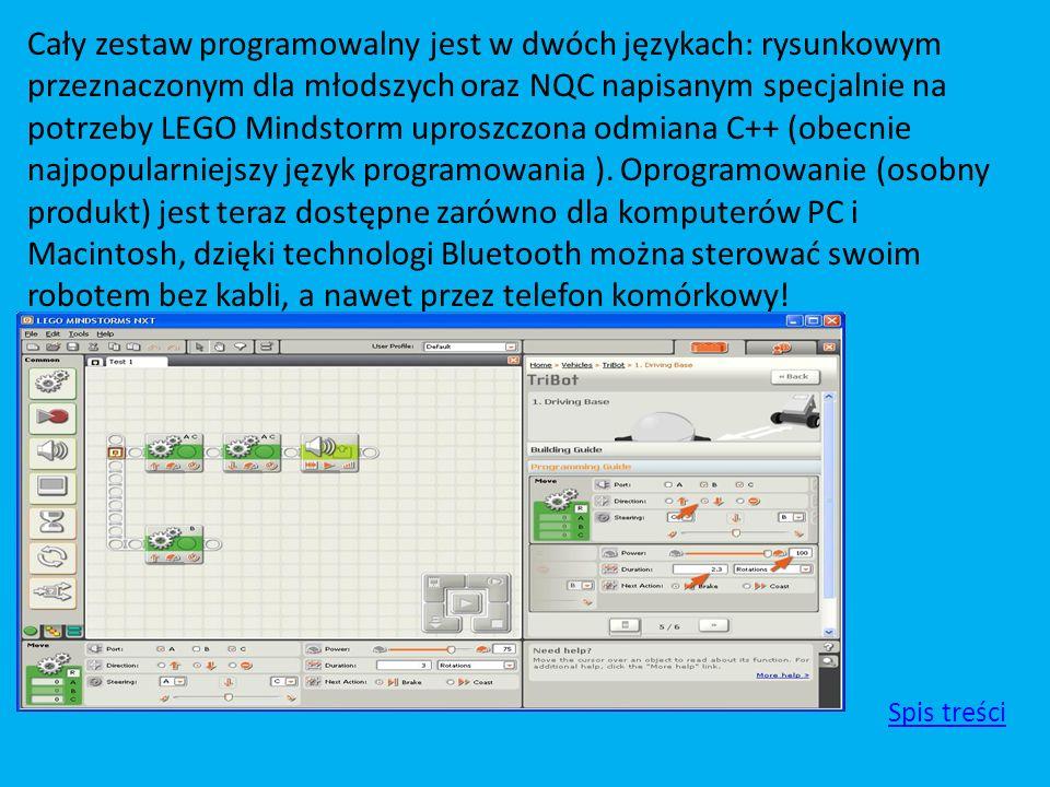 Cały zestaw programowalny jest w dwóch językach: rysunkowym przeznaczonym dla młodszych oraz NQC napisanym specjalnie na potrzeby LEGO Mindstorm upros
