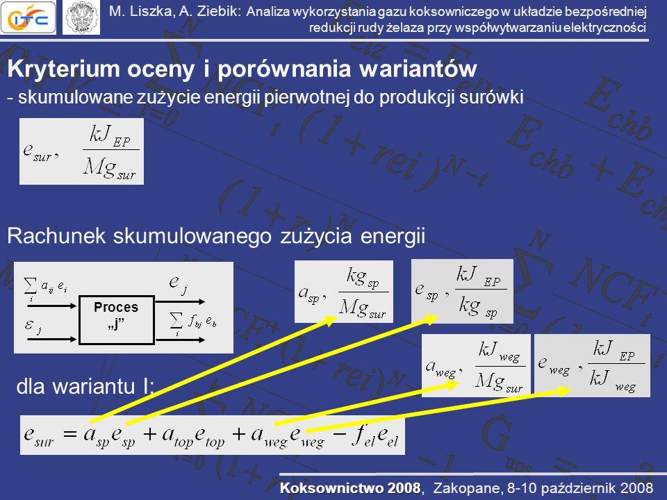 M. Liszka, A. Ziebik: Analiza wykorzystania gazu koksowniczego w układzie bezpośredniej redukcji rudy żelaza przy współwytwarzaniu elektryczności Kryt
