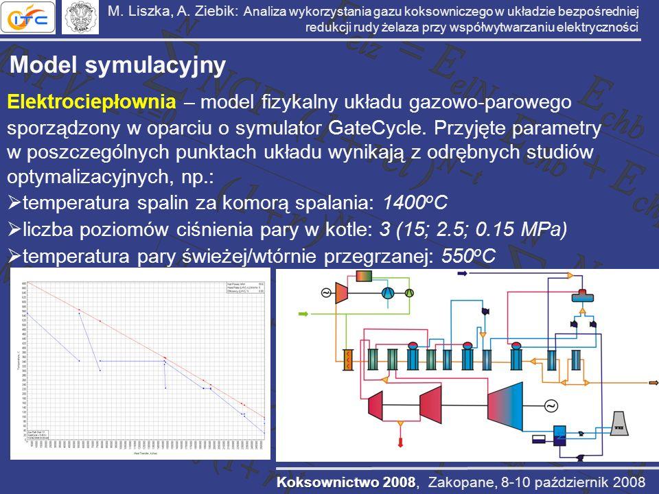 M. Liszka, A. Ziebik: Analiza wykorzystania gazu koksowniczego w układzie bezpośredniej redukcji rudy żelaza przy współwytwarzaniu elektryczności Mode