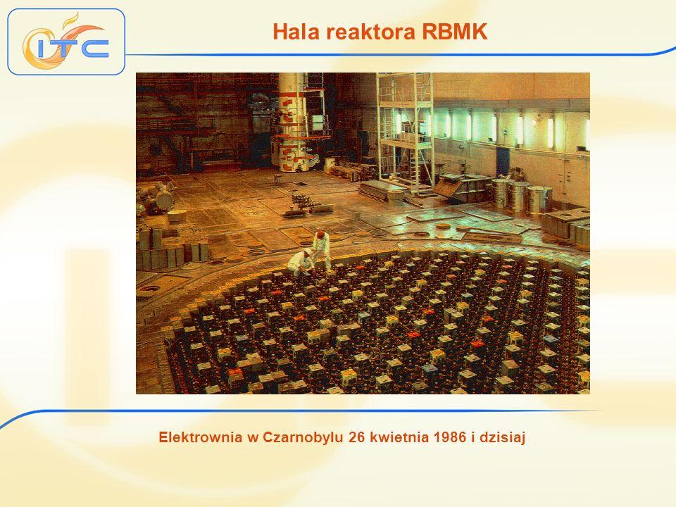Elektrownia w Czarnobylu 26 kwietnia 1986 i dzisiaj Hala reaktora RBMK