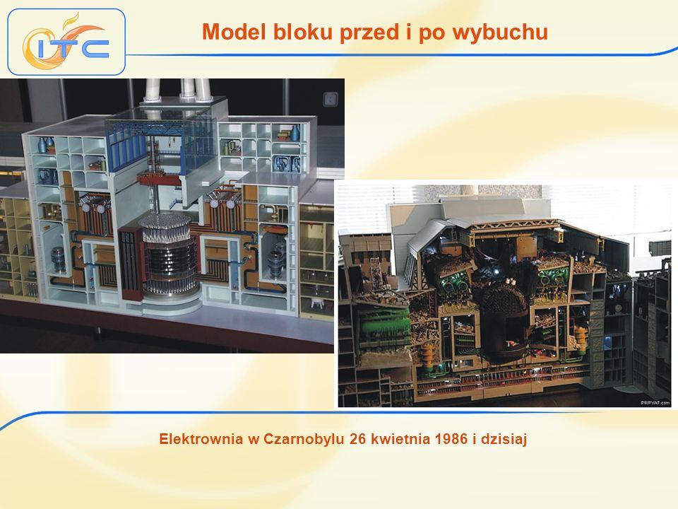 Elektrownia w Czarnobylu 26 kwietnia 1986 i dzisiaj Model bloku przed i po wybuchu