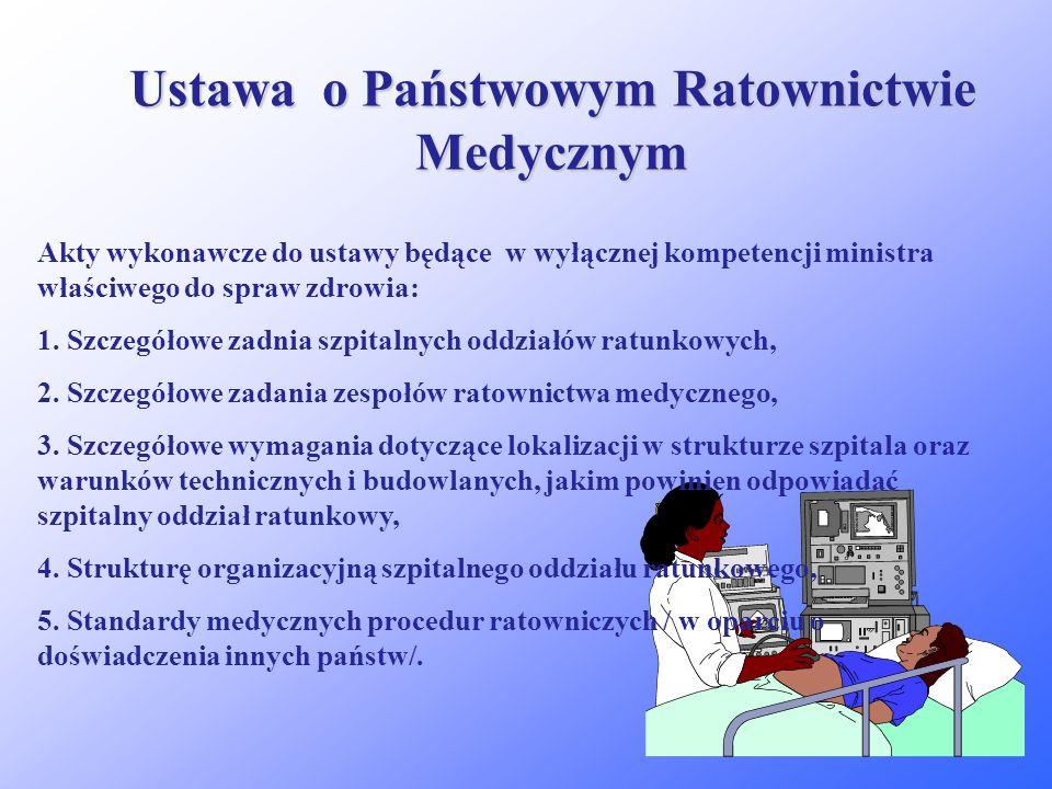 Ustawa o Państwowym Ratownictwie Medycznym System powstał w celu zapewnienia sprawnej i efektywnej realizacji zadania państwa, polegającego na podejmo