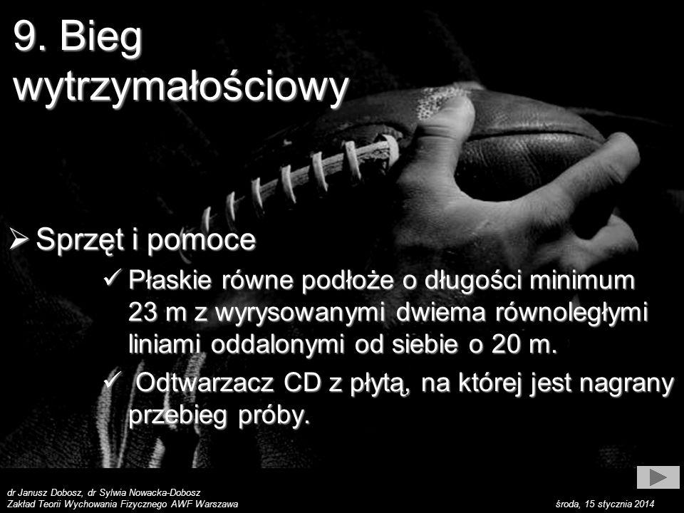 dr Janusz Dobosz, dr Sylwia Nowacka-Dobosz Zakład Teorii Wychowania Fizycznego AWF Warszawa środa, 15 stycznia 2014 9.