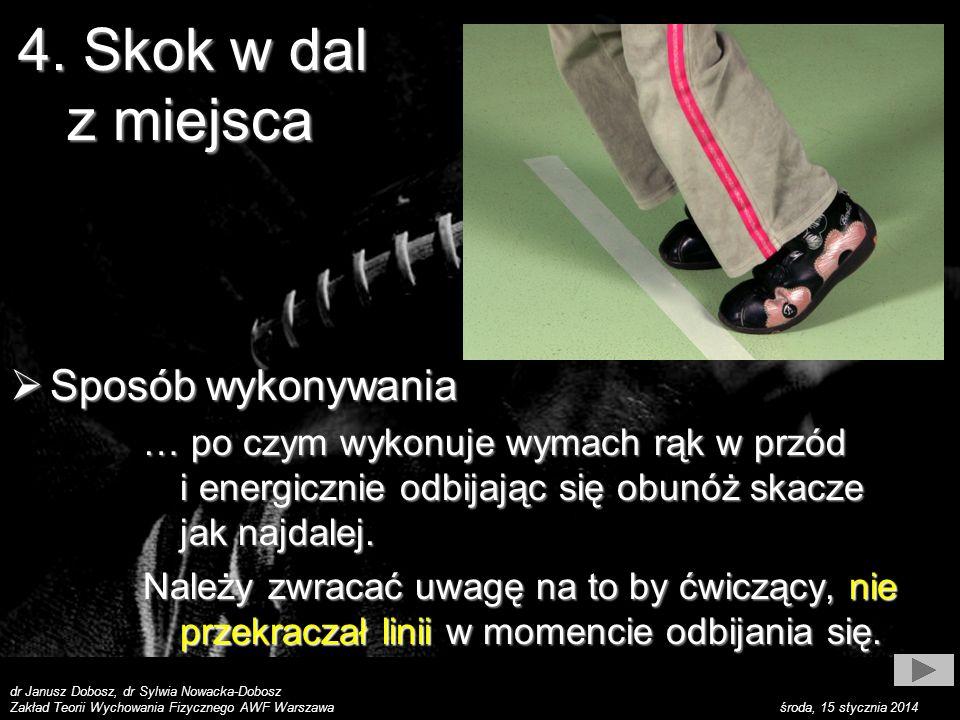 dr Janusz Dobosz, dr Sylwia Nowacka-Dobosz Zakład Teorii Wychowania Fizycznego AWF Warszawa środa, 15 stycznia 2014 Sposób wykonywania Sposób wykonywa