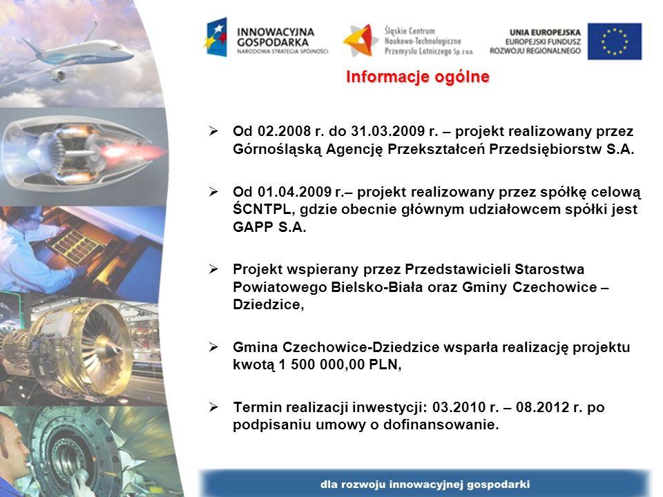 Informacje ogólne Od 02.2008 r. do 31.03.2009 r. – projekt realizowany przez Górnośląską Agencję Przekształceń Przedsiębiorstw S.A. Od 01.04.2009 r.–