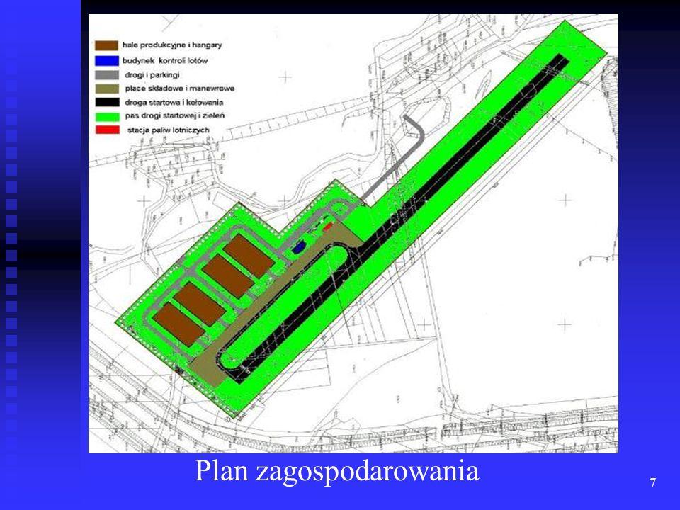 18 Możliwość operacji startów i lądowań z pasa startowego o długości 700 m o nawierzchni asfaltowej; Możliwość operacji startów i lądowań z pasa startowego o długości 700 m o nawierzchni asfaltowej; Korzystanie z sali konferencyjnej na 15 miejsc w pełni wyposażonej w osprzęt komputerowy; Korzystanie z sali konferencyjnej na 15 miejsc w pełni wyposażonej w osprzęt komputerowy; Możliwości tankowania statków powietrznych w paliwo typu JET A 1 i AVGAS.