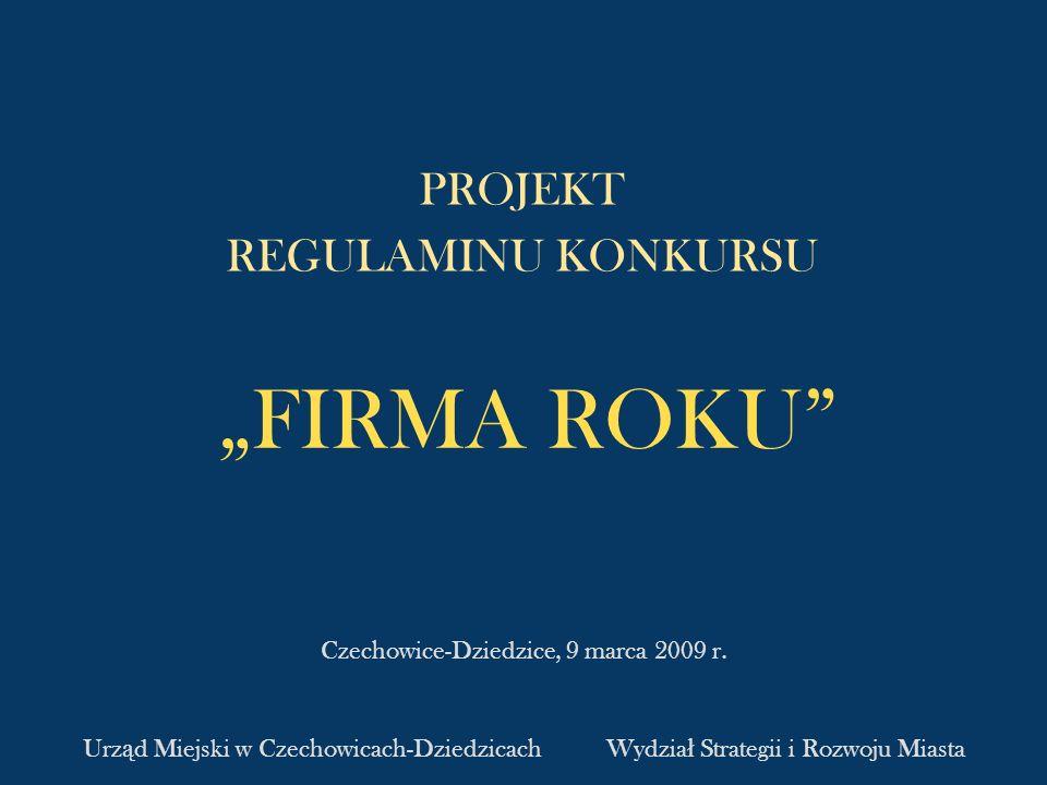 Projekt regulaminu konkursu Firma Roku 2.