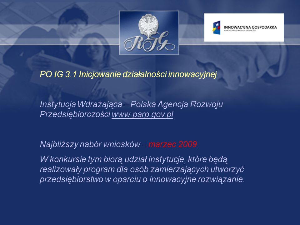 PO IG 4.2 Stymulowanie działalności B+R przedsiębiorstw oraz wsparcie w zakresie wzornictwa przemysłowego.