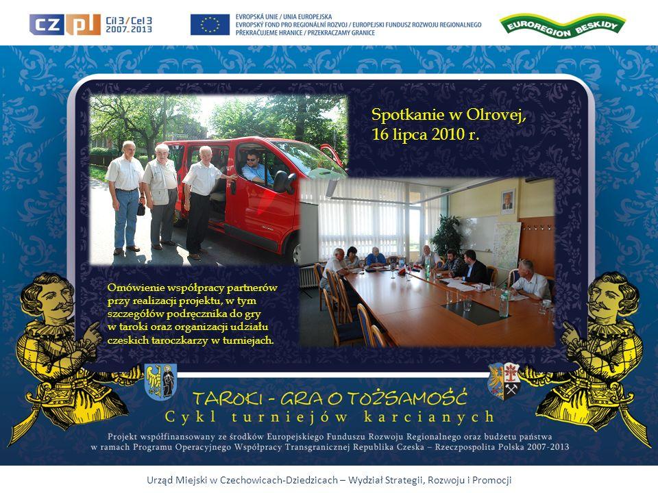 Urząd Miejski w Czechowicach-Dziedzicach – Wydział Strategii, Rozwoju i Promocji Spotkanie w Olrovej, 16 lipca 2010 r.