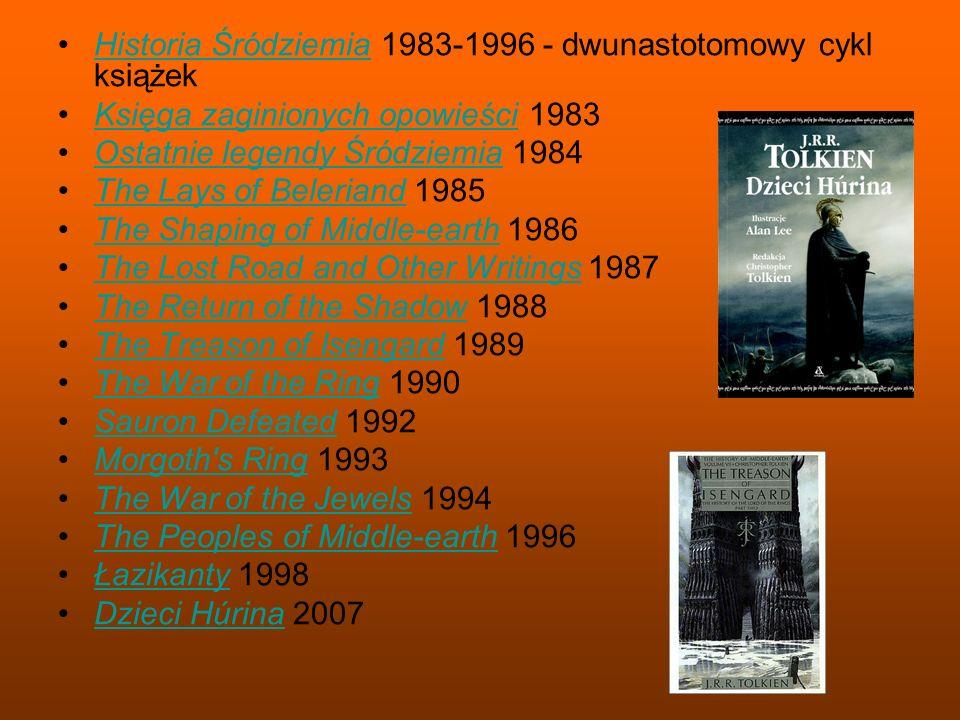 Historia Śródziemia 1983-1996 - dwunastotomowy cykl książekHistoria Śródziemia Księga zaginionych opowieści 1983Księga zaginionych opowieści Ostatnie
