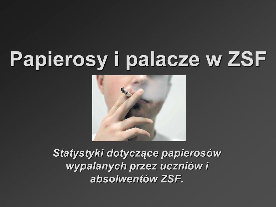 Papierosy i palacze w ZSF Statystyki dotyczące papierosów wypalanych przez uczniów i absolwentów ZSF.