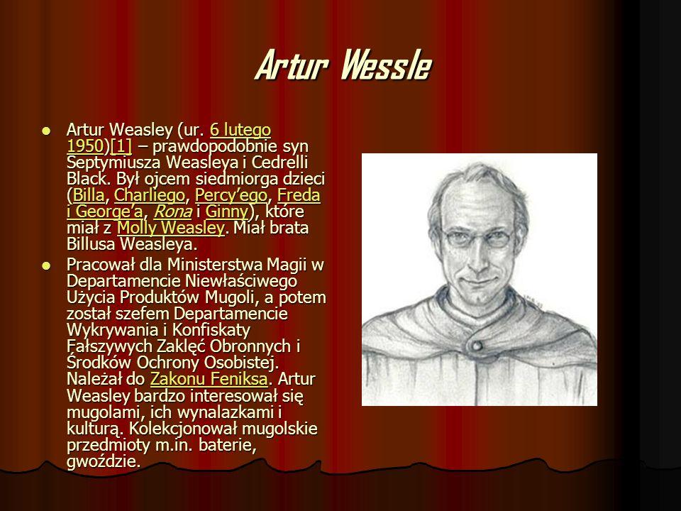 Artur Wessle Artur Weasley (ur. 6 lutego 1950)[1] – prawdopodobnie syn Septymiusza Weasleya i Cedrelli Black. Był ojcem siedmiorga dzieci (Billa, Char