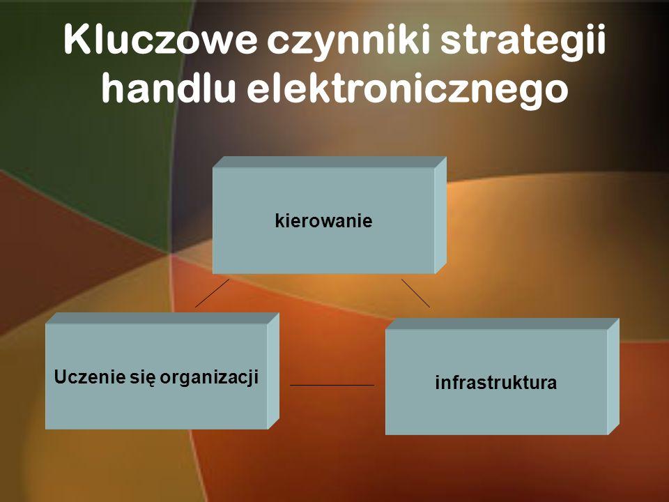 Kluczowe czynniki strategii handlu elektronicznego kierowanie infrastruktura Uczenie się organizacji