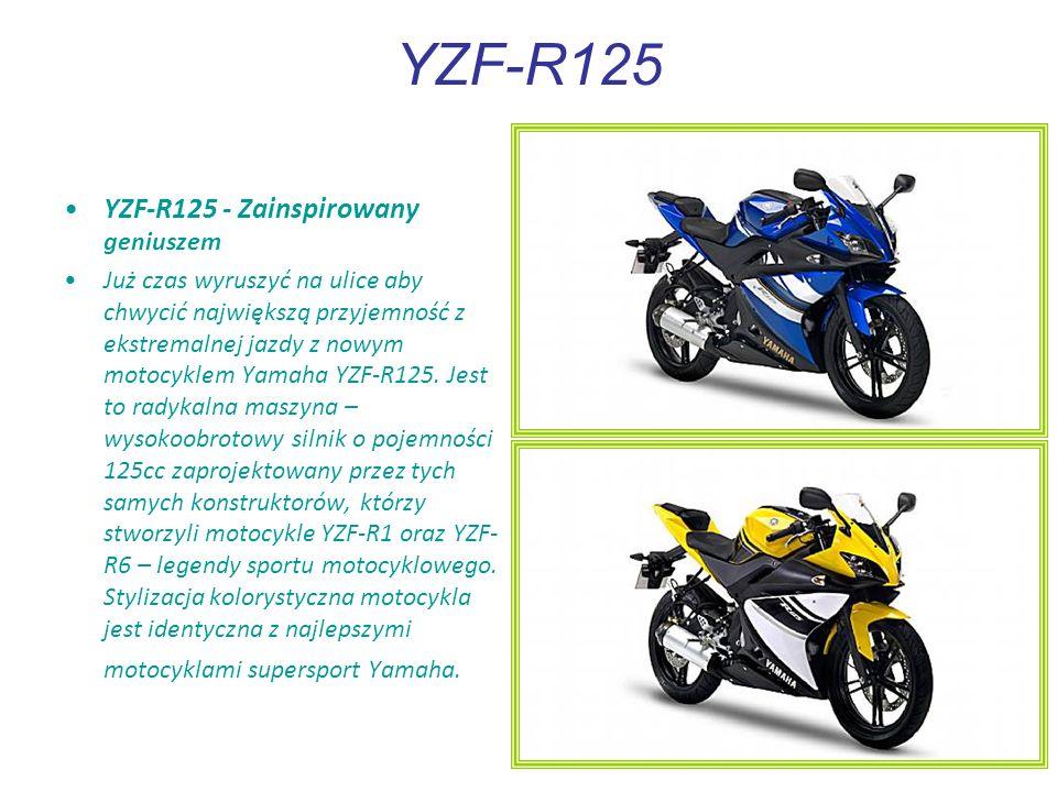 YZF-R125 YZF-R125 - Zainspirowany geniuszem Już czas wyruszyć na ulice aby chwycić największą przyjemność z ekstremalnej jazdy z nowym motocyklem Yamaha YZF-R125.