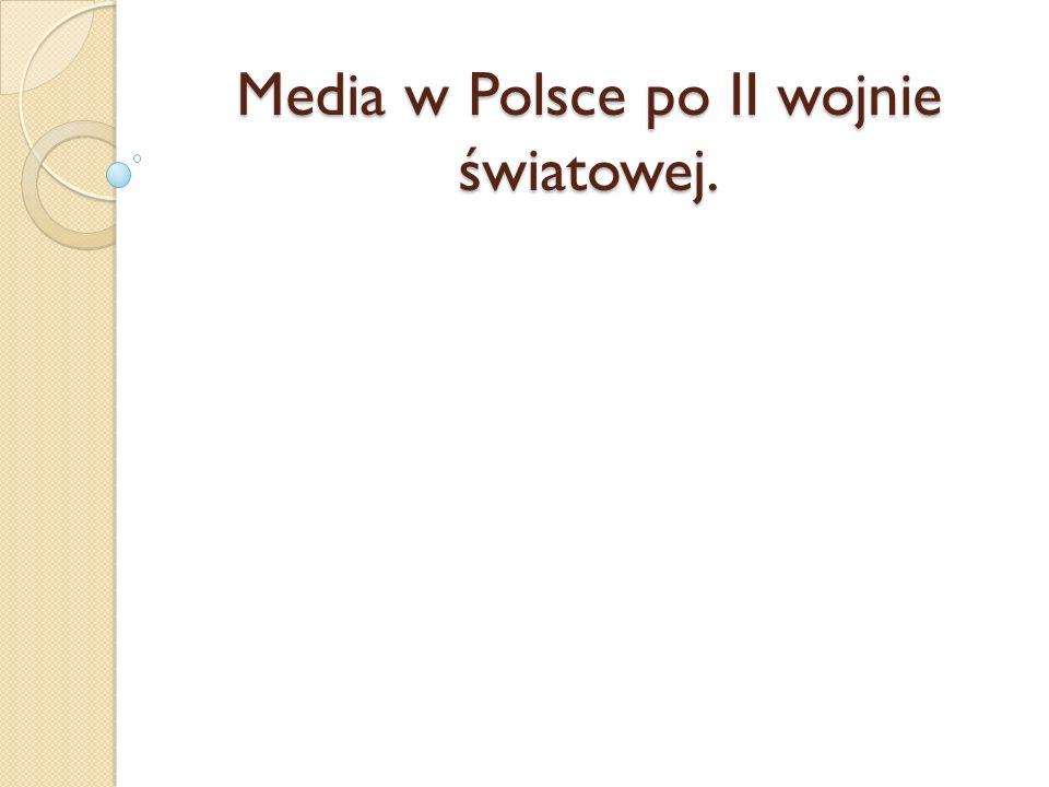 Polskie Radio Od 1944 roku przystąpiono do odbudowy PolskiegoRadia, jednocześnie przeprowadzając upaństwowienie, a w 1948 roku podporządkowując je prezesowi Rady Ministrów jako centralny organ administracji państwowej.