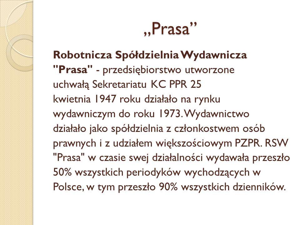 Prasa Robotnicza Spółdzielnia Wydawnicza