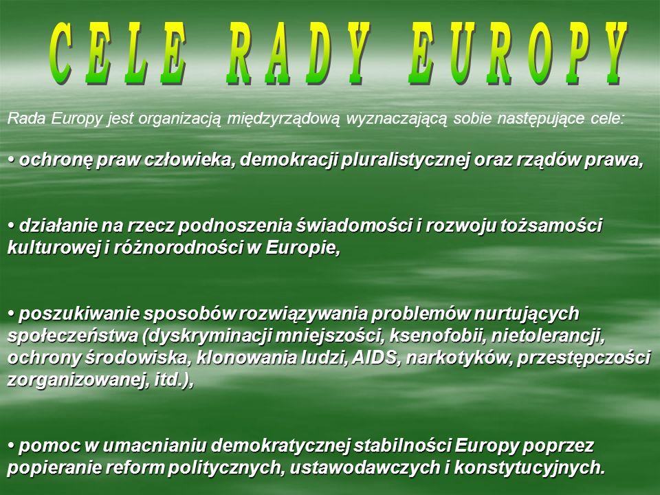 KOMITE MINISTRÓW KOMITE MINISTRÓW ZGROMADZENIE PARLAMENTARNE ZGROMADZENIE PARLAMENTARNE KONGRES WŁADZ LOKALNYCH KONGRES WŁADZ LOKALNYCH I REGIONALNYCH EUROPY I REGIONALNYCH EUROPY