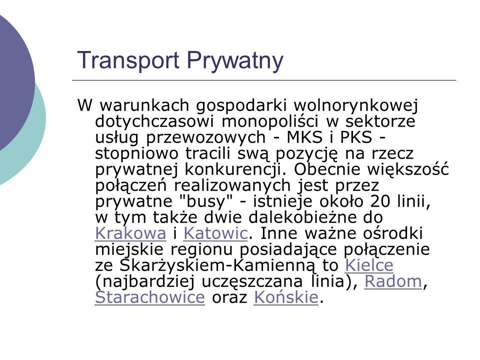 PKS Skarżysko-Kamienna Połączenia podmiejskie oraz dalekobieżne obsługiwane są przez PKS-Iwopol spółka z o.o. Mimo prywatyzacji przedsiębiorstwo znajd