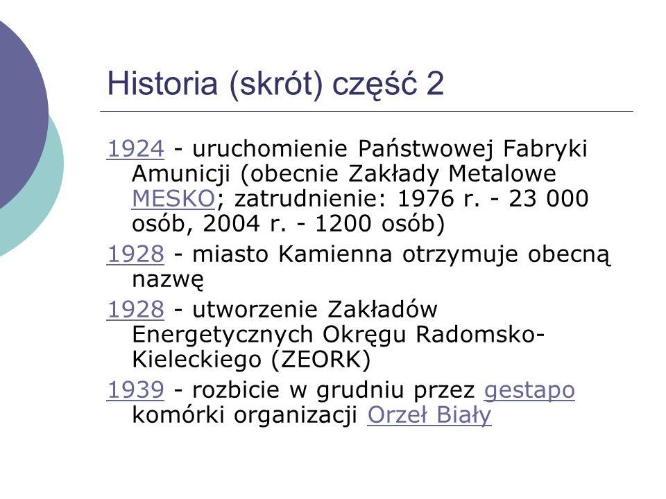 Historia (skrót) 11731173 - wiec rycerstwa pod przewodnictwem Kazimierza Sprawiedliwego we wsi Milica (obecnie dzielnica miasta)Kazimierza Sprawiedliw
