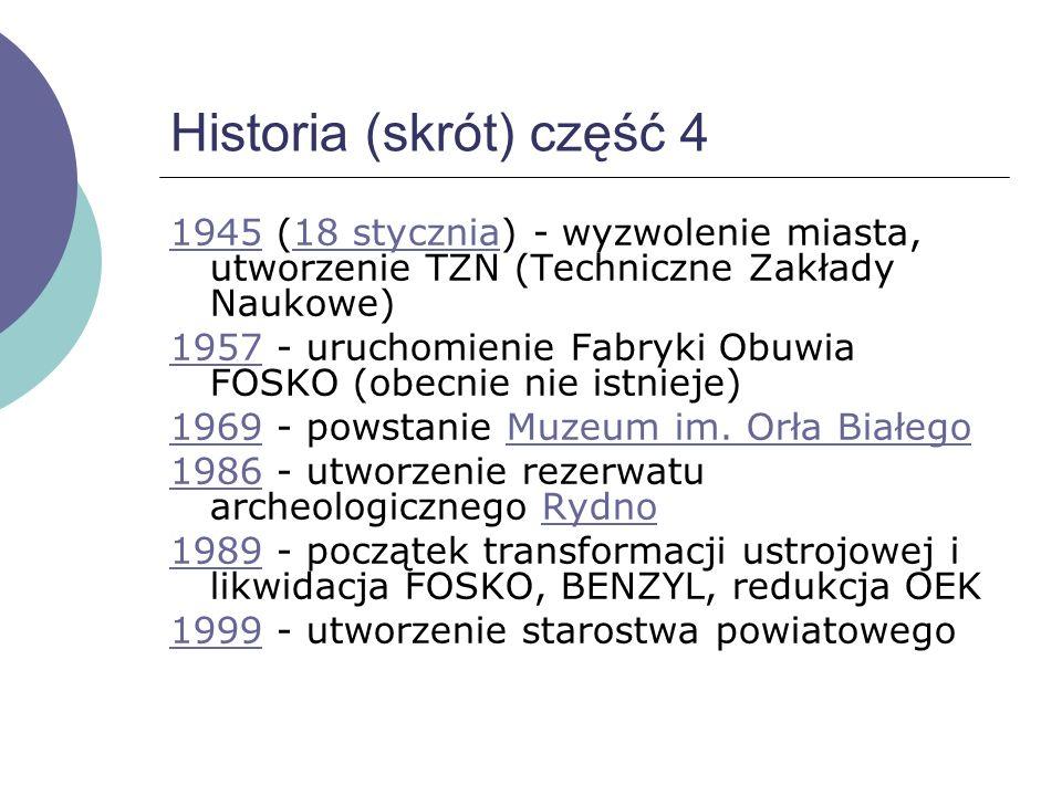 Historia (skrót) część 3 19401940 - masowe egzekucje ludności polskiej: luty - 360 osób, czerwiec - 760 osób, zbiorowe mogiły Bór i Brzask. Początek d